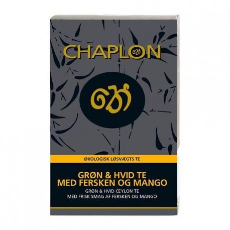 Chaplon Hvid og Grøn Te m. Fersken og Mango Refill 100g