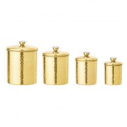 Bloomingville Opbevaringskrukker 4 stk. Guld