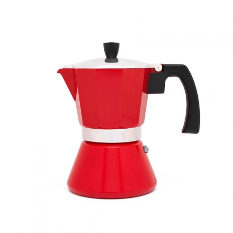 Bredemeijer Tivoli Espressokande Rød 6 Kop