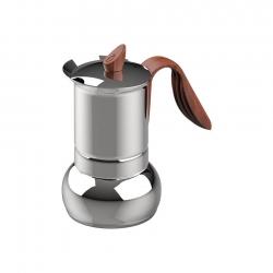 G.A.T Opera Wood Espressokande Stål 4 kops