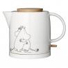 Moomin Keramik Elkedel 1L Med Trædetaljer og Mumi-motiv