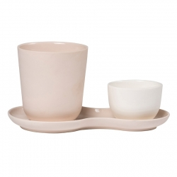 Nudge Kaffesæt 3 dele Rosa