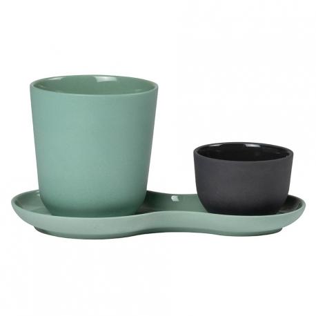 Nudge Kaffesæt 3 dele Grøn