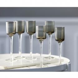Lyngby Snapseglas 5cl 6 stk Grå