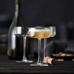 Lyngby Zero Champagneskål 26 cl 4 Stk