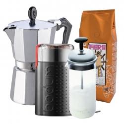 G.A.T Lady Oro Espressokande Inkl. Kværn, Mælkeskummer & Kaffe