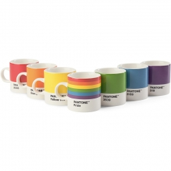 Pantone Espressokrus 0,12L Pride Sæt 7 stk.