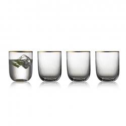Lyngby Palermo Gold Tumbler Glas 35 cl 4 Stk