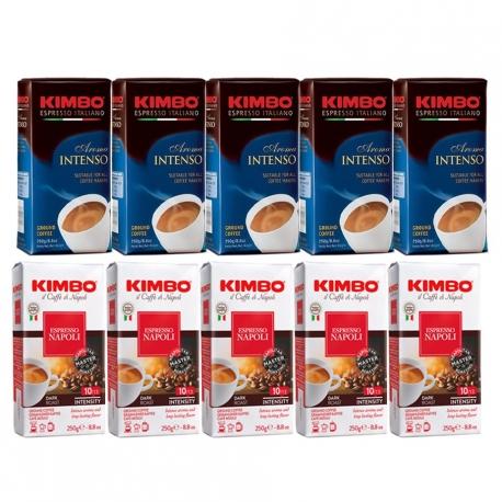 Kimbo Kaffepakke Malet 10x250g