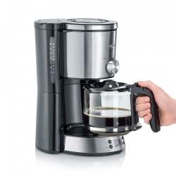 Severin KA4826 Kaffemaskine m. Timer Sort/Stål
