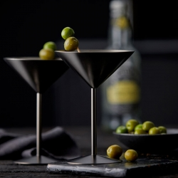 Lyngby Stål Martiniglas 25 cl 2 Stk Mat Sort