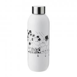 Stelton Keep Cool Vandflaske 0,75 L - Moomin Soft White
