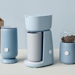RIG-TIG Foodie Elektrisk Kaffemølle Lyseblå