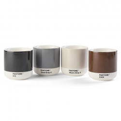 Pantone Espresso Termokrus 10 cl 4 Stk Mørk Sæt