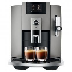 Jura E8 (EB) 2020 Dark Inox Espressomaskine Inkl. Mælkebeholder, Kopper & Kaffe