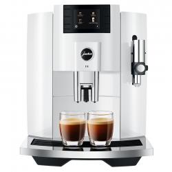 Jura E8 (EB) 2020 Piano White Espressomaskine Inkl. Mælkebeholder, Kopper & Kaffe