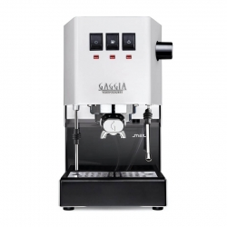 Gaggia Classic Pro Hvid Espressomaskine Inkl. Kværn, Kaffe & Baristaudstyr