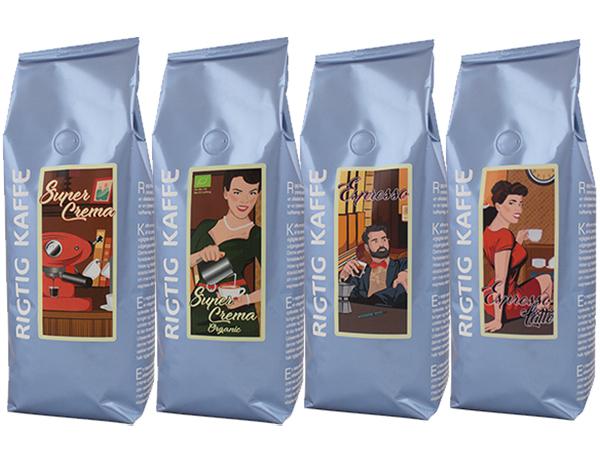 Rigtig Kaffes Blå serie