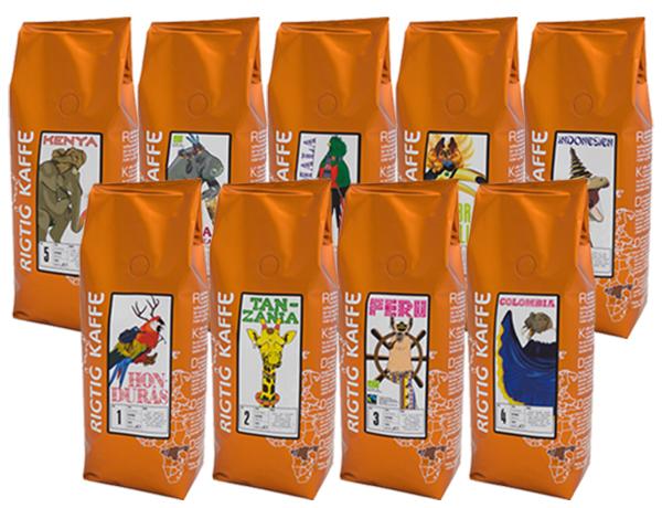 Rigtig Kaffes orange serie
