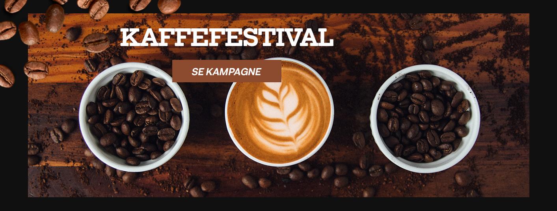 Se vores store kaffefestival, som er fyldt med fede kampagner.